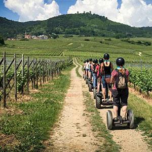 Bon cadeau - Balade dans les vignes et Eguisheim en Segway